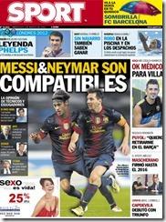 messi y neymar son compatibles portada sport