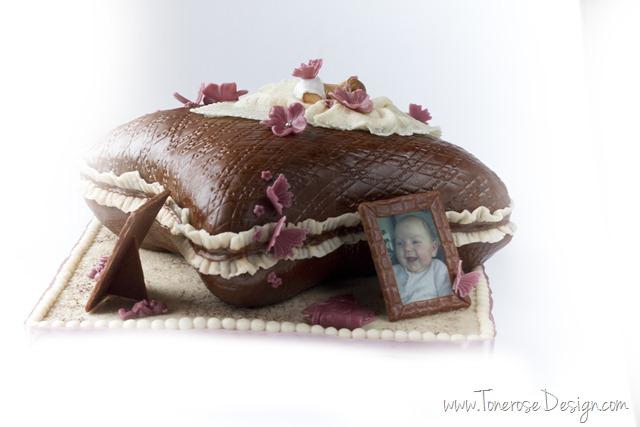 rustikk dåpskake gammelrosa jente dåp IMG_6372