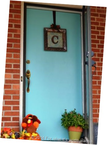 DIY Paint an aqua front door