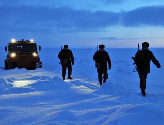 """Пограничная застава """"Нагурская"""" в Арктике"""