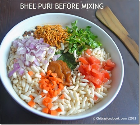 bhel befor mixing