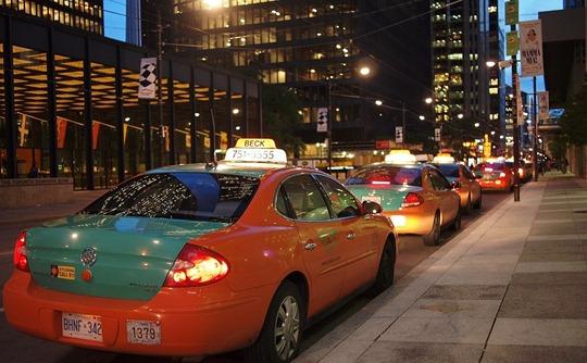 Toronto taxi line
