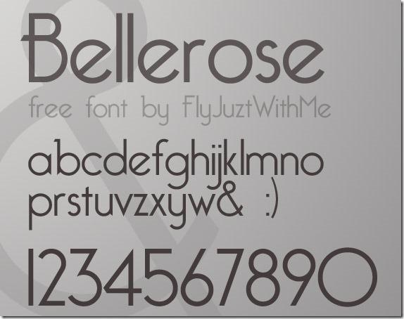 bellerose-free-high-quality-font