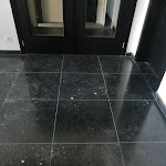 Interior paving in Dark honed