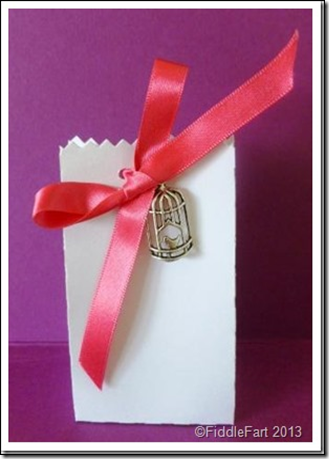 wedding Favour Box with bird cage embellishment