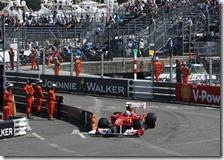 Massa nelle prove libere del gran premio di Monaco