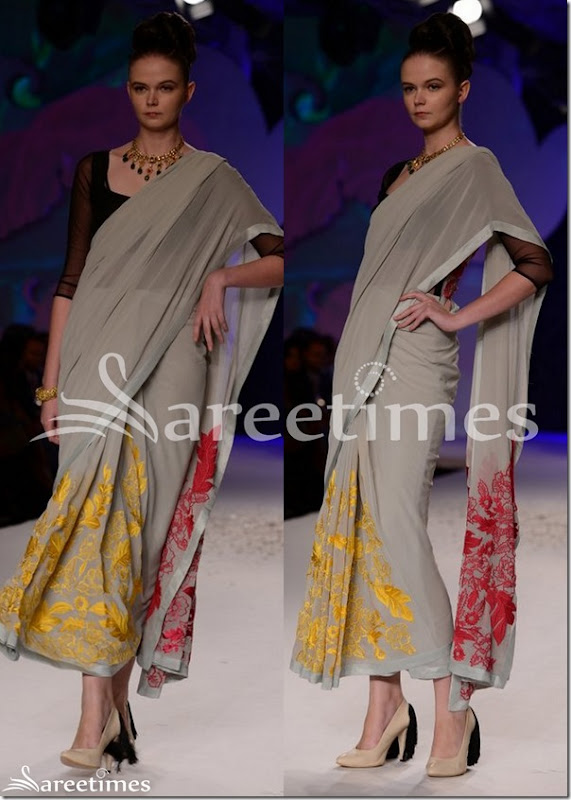 Varun_Bahl_Grey_Saree