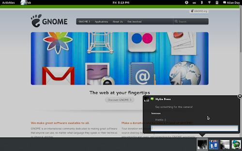 GNOME 3.6 - notifiche
