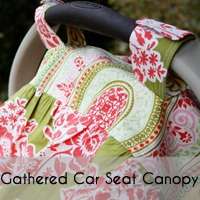 gathered car seat canopy