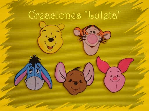 Caritas Winnie The Pooh Y Sus Amigos Figuras En Goma Eva Goma Eva