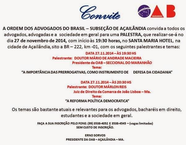 Convite original 1