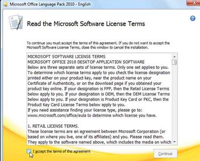 เปลี่ยนภาษาในเมนู Microsfot excel 2010