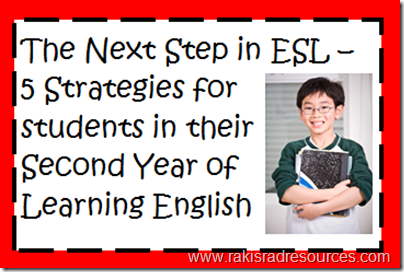 The Next Step in ESL - Five strategies for students in their second year of English