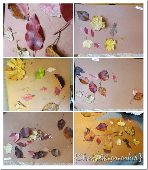 Leaf Collages preschool art