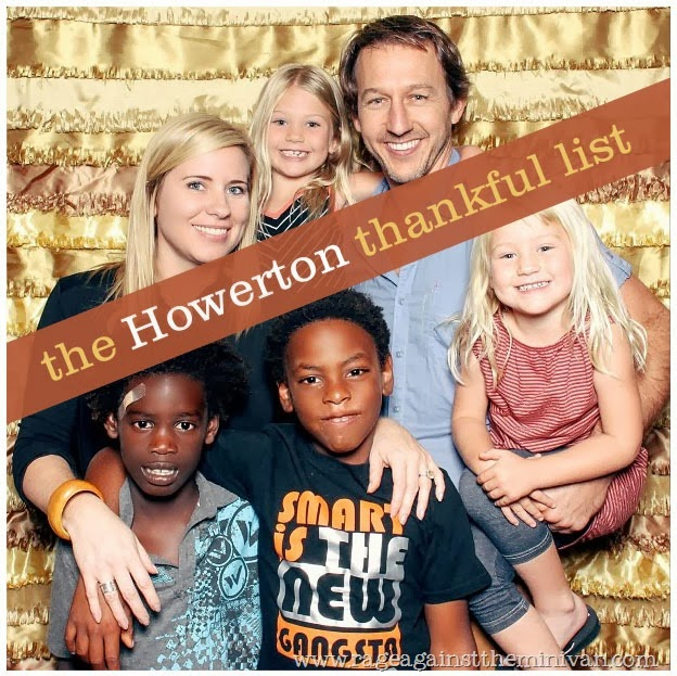 the howerton thankful list