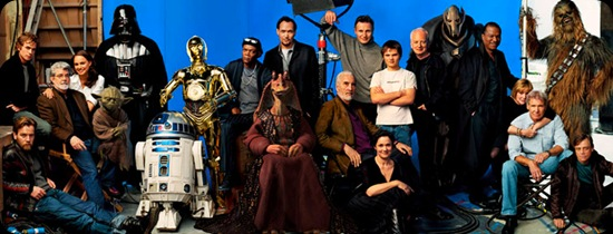 All the Star wars actors in one photo - cool star wars pics