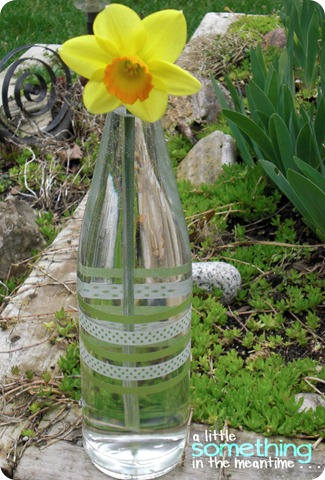 Washi Tape Bottle Vase