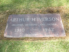 Arthur Harry Iverson Headstone