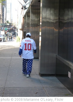 ''Eli Manning' in his Giants jammie pants' photo (c) 2008, Marianne O'Leary - license: http://creativecommons.org/licenses/by/2.0/
