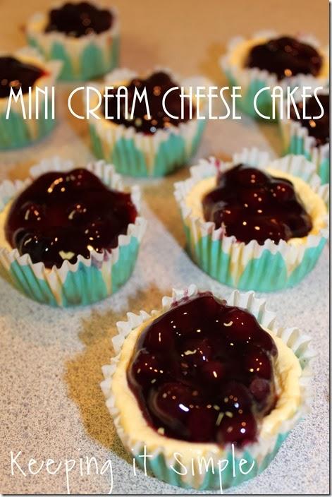 mini cream cheese cakes