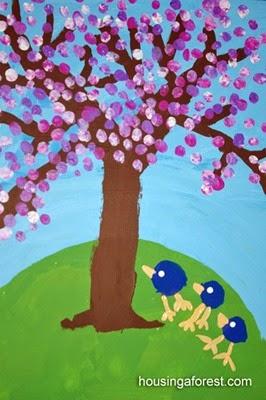 Spring-Tree-Painting