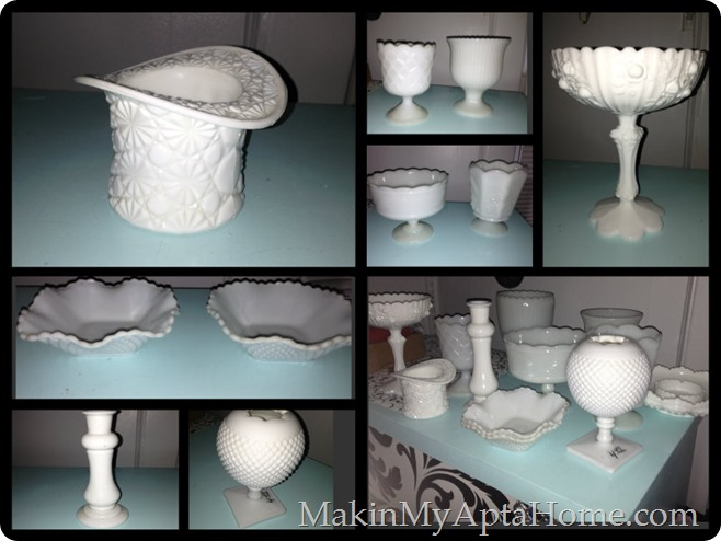July white milk glass thrift mmah