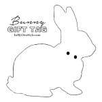 In My Own Style - Free Bunny Gift Tag Easter Printable