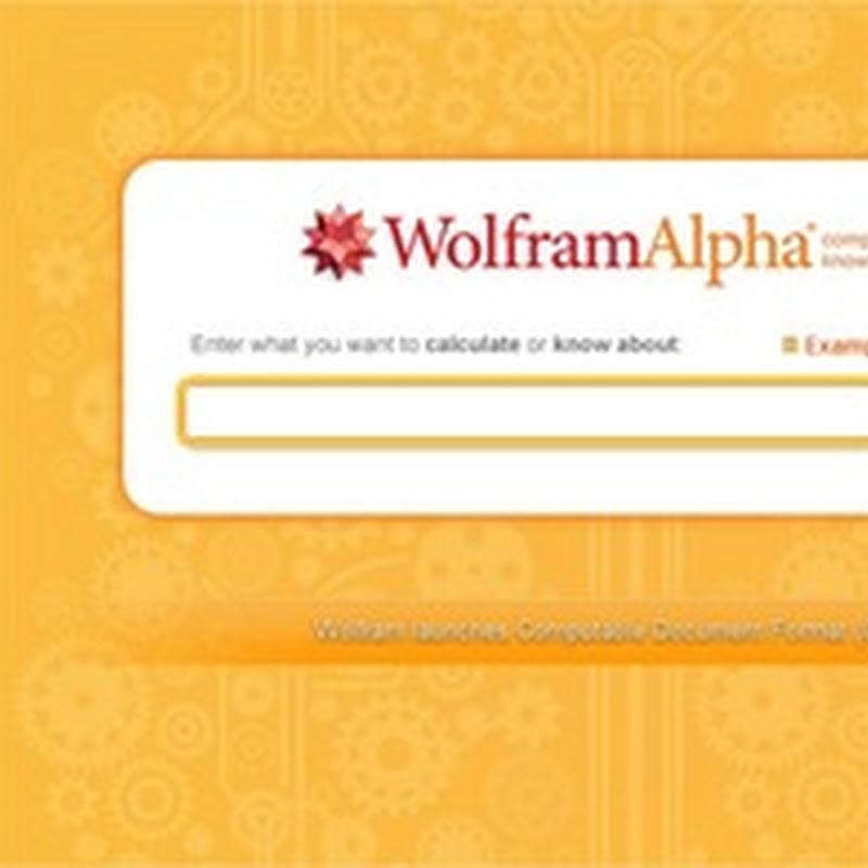 5 útiles ejemplos para sacar provecho de Wolfram Alpha