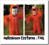 Halloween Costume (Elmo) - FAIL - 08-18-11