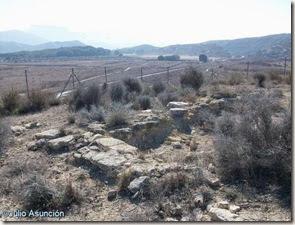 Muro del edificio singular ibérico - Yacimiento arqueológico de El Chorrillo