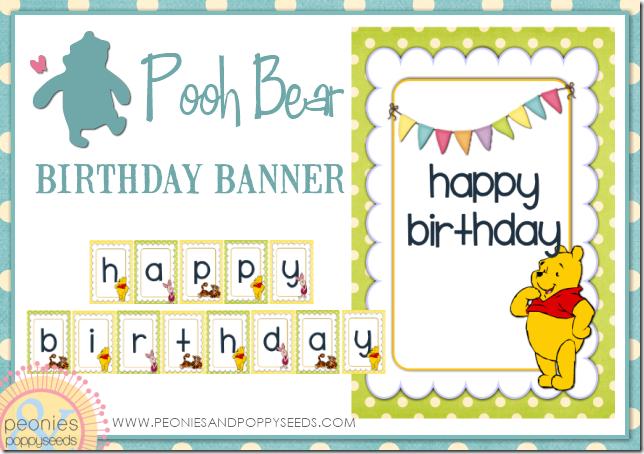 winnie the pooh happy birthday banner copy