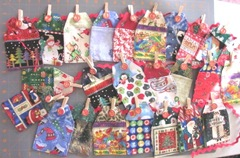 2011 advent fabric calendar all strung