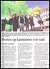 AFRIFORUM PROTESTS AGAINST SUPPRESSION OF AFRIKAANS AT UNIVERSITY CAMPUSSES MARCH132012 DIE BURGER