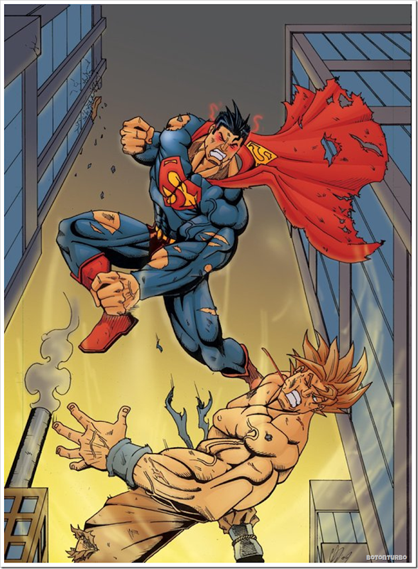 Superman vs Goku Super Saiyajin