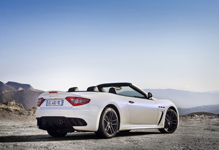 2013 Maserati GranCabrio MC rear three quarter