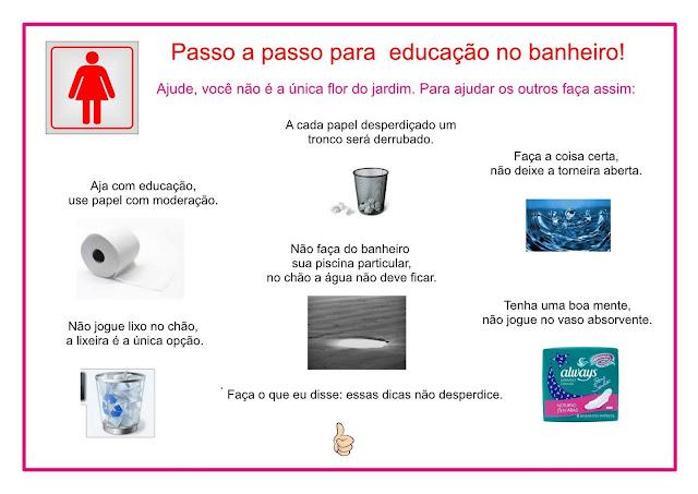 705  Informática Educativa -> Cartazes Banheiro Feminino