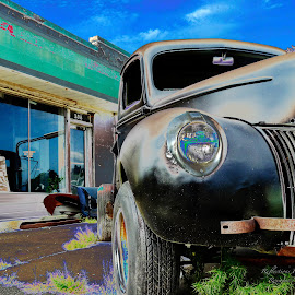 Old truck  by Roxanne McCallister - Artistic Objects Antiques ( old building, surreal, old truck )