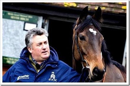 17th Feb Paul Nicholls and Zarkandar by Press Association