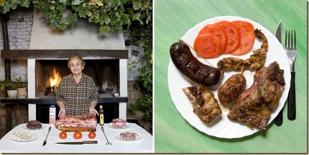 Portraits de grand-mères et leurs plats cuisinés (26)