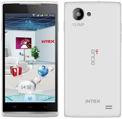 Intex Aqua HD – 13MP Camera Mobile with Quad Core processor and Android v4.2.1 Jelly Bean OS.