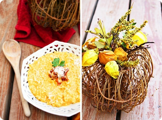 Pumpkin Risotto with Parmesan and Bacon