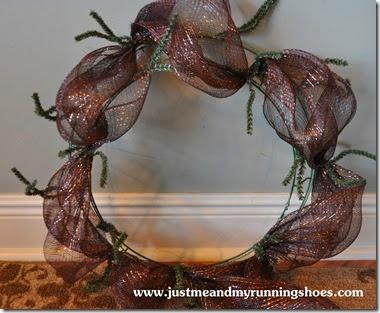 Deco Mesh Wreath 10