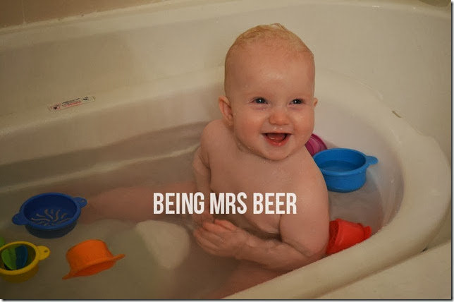 Baby Talk: Bath Time! - Being Mrs. Beer