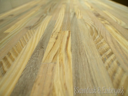 Butcher Block Counters for Bathroom Vanity {Sawdust and Embryos}