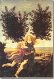 Apollon_Daphné  Antonio del Pollaiuolo