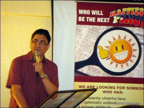 Happiest Pinoy 2010 winner Winston Maxino