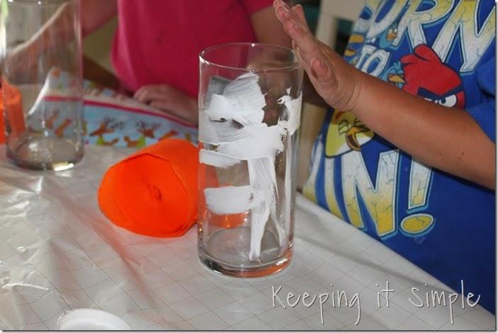 Halloween pumpkin flower vase #kidscraft (2)