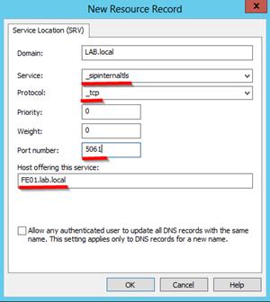 DNS-srv-record