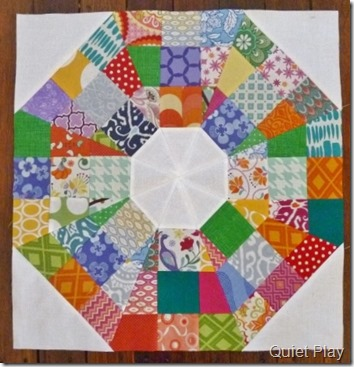 Octagonal Orb July block for Margaret
