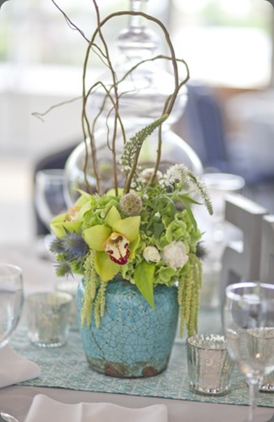 Potted Centerpieces by Cori Cook